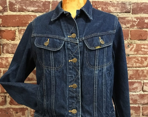 70s Women's Lee Riders 100% Cotton Denim Jacket Size Medium