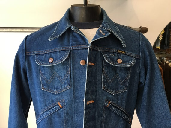 "70s Men's Wrangler Denim Jacket 40"" Chest"