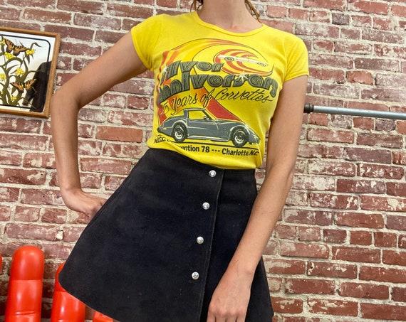 70s Corvette Baby Doll Tee Shirt