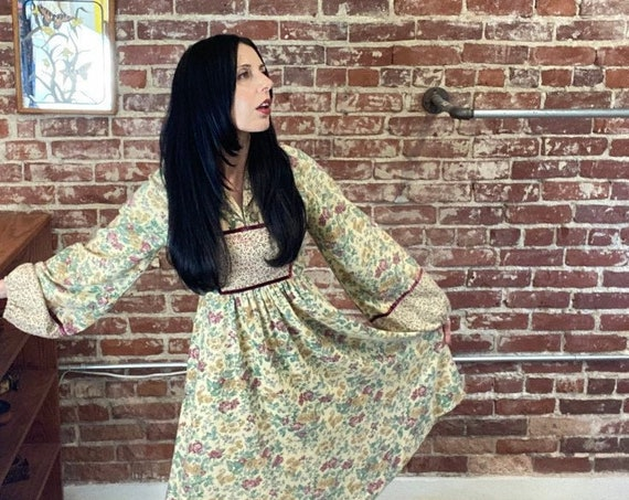 70s Edwardian Cotton Dress by Act 1 New York Size Small
