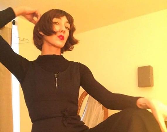 70s Black Jumpsuit Vintage Seventies 1970s Size Medium