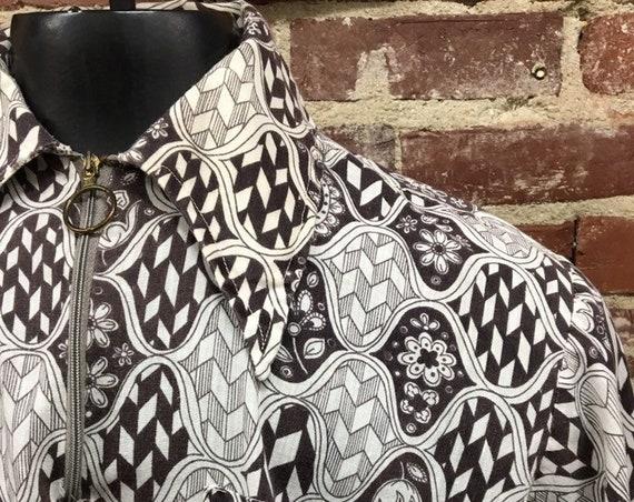 70s Men's Rare Hoop Ring Psychedelic Shirt Rare Vintage Brian Jones