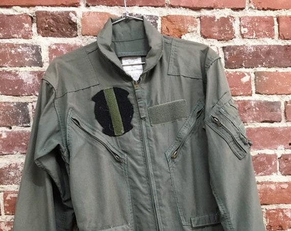70s Men's Air Force Jumpsuit  Coveralls Vietnam Era Military Vintage Size 38R