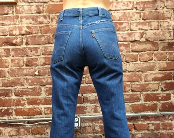 "70s Orange Tab Levis Flares 30"" waist by 31"" inseam"