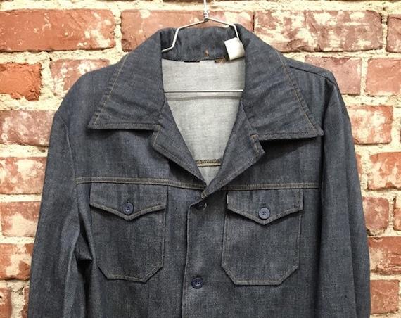 70s Men's Levi's Sta Prest Detroit Shirt Cut Jacket Vintage Seventies 1970s Size Large