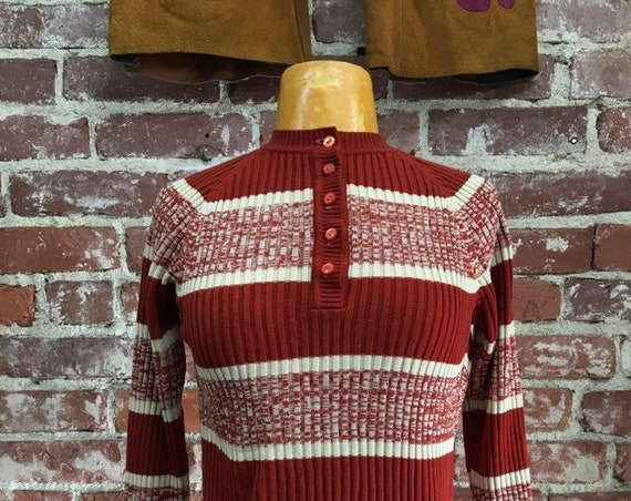 70s Space Dyed Sweater Size Small Vintage Seventies 1970s