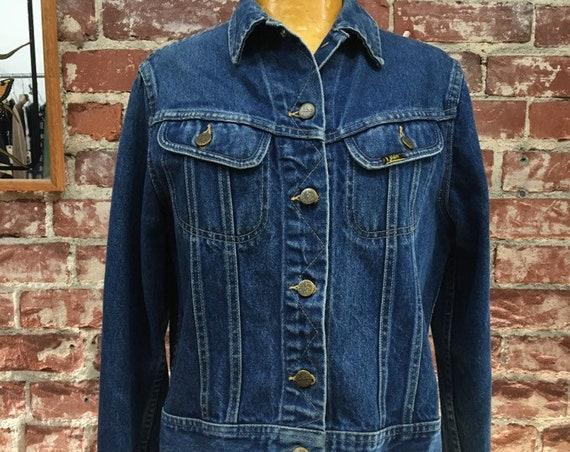 70s Lee Denim Jacket Vintage Seventies 1970s Size Medium