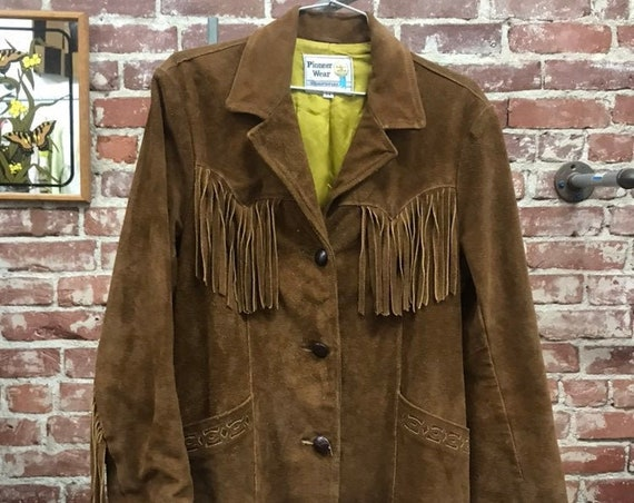 70s Fringe Suede Jacket by Pioneer Wear.