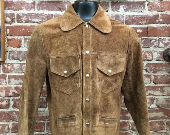 70s Mens Suede Jacket Vintage