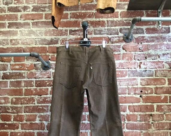 "70s Men's Levi's Brown Corduroy Flares 34"" waist by 32"" inseam"