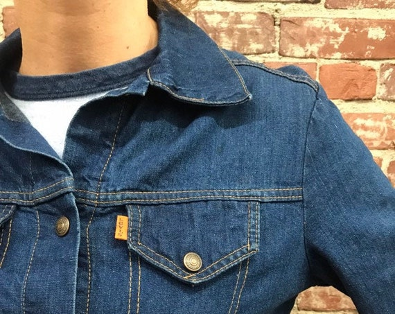 70s Women's Levi's Orange Tab Dark Denim Jacket