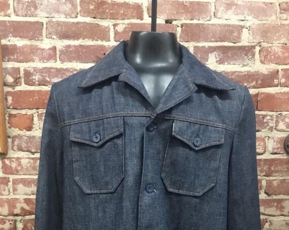 70s Men's Levi's Sta Prest Detroit Shirt Cut Jacket Size Large