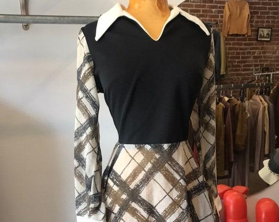 70s Long Sleeve Sheer Mini Dress With Matching Panties