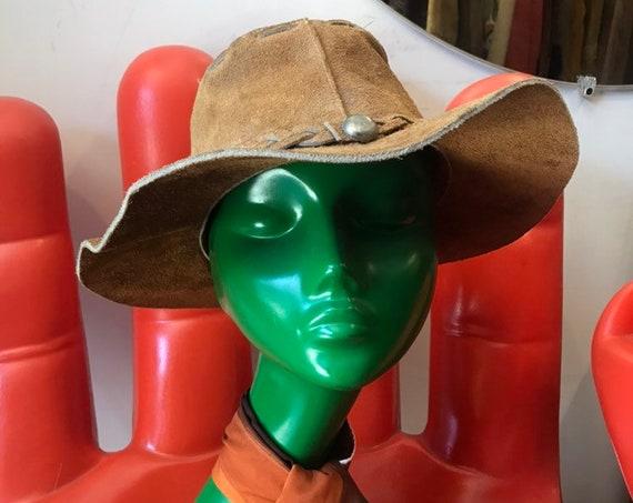 70s Floppy Suede Sun Hat