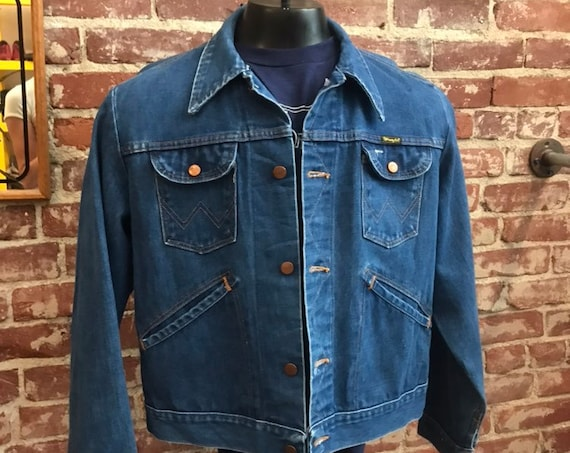 Mens 70s Wrangler Jean Denim Jacket