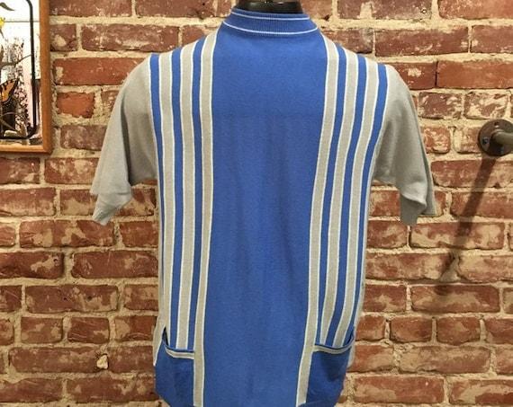 70s Men's Mod Acrylic Shirt Size Large