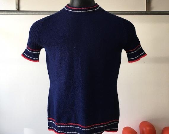 70s Men's Mod Knit Shirt