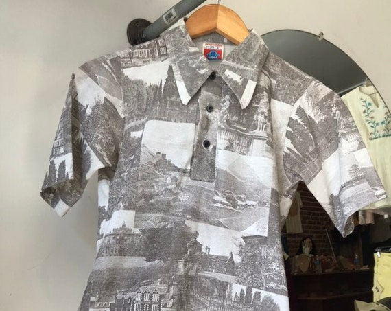 70s Photographic Print Shirt