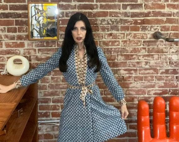 70s Cotton Wrap Dress