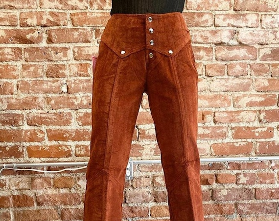 Reserved 70s Corduroy Dead Stock Snap Button Flares