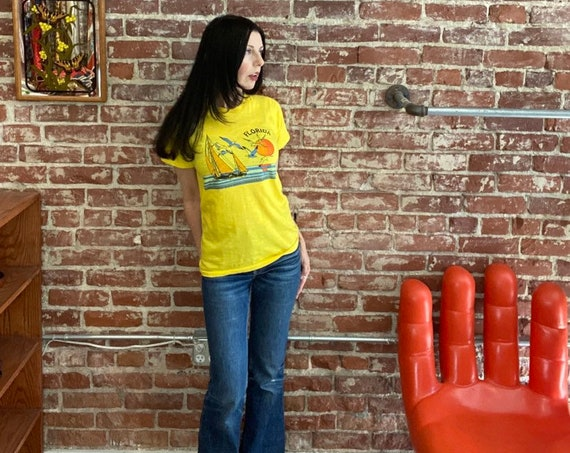 Dated 1980 Florida Canary Yellow Tee