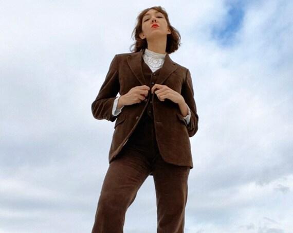 70s Men's Corduroy Three Piece Suit
