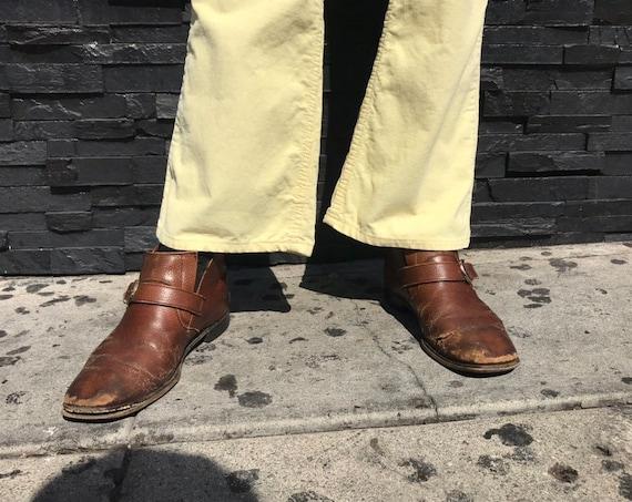 70s Levi's 646 Yellow Corduroy Jeans