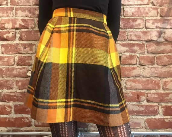 70s Tartan Skort By Tami San Francisco