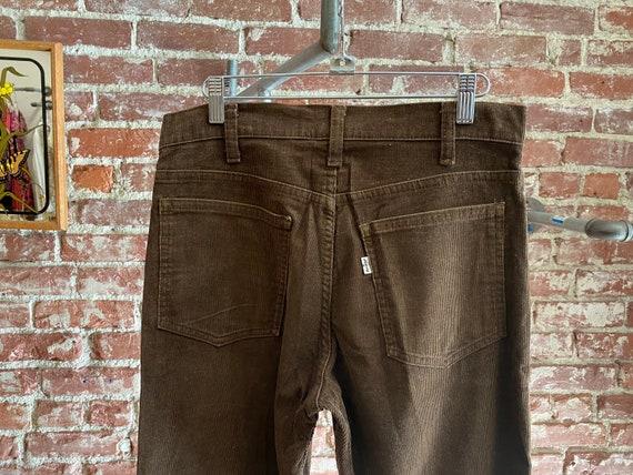 70s Men's Levi's Brown Corduroy Strait Leg Jeans
