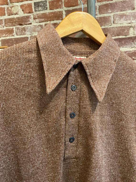 70s Men's Long Sleeve Polo