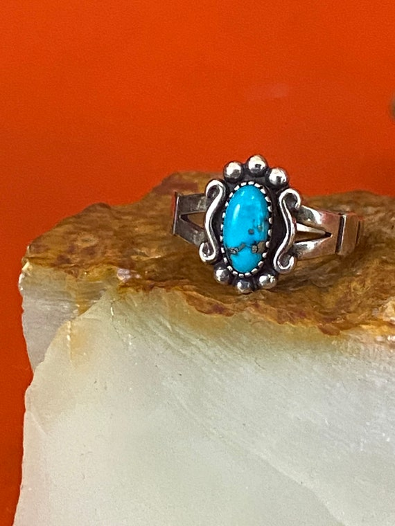 70s Turquoise & Sterling Silver Ring