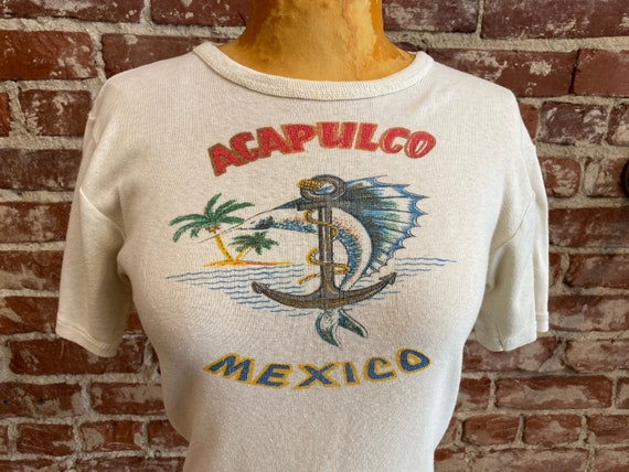 70s Acapulco Mexico 100% Cotton Tee