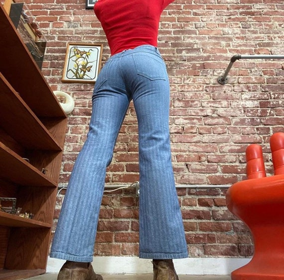 70s Striped Jeans