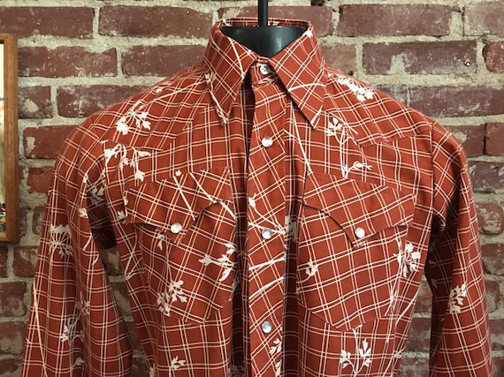 70s Men's Western Shirt by H Bar C