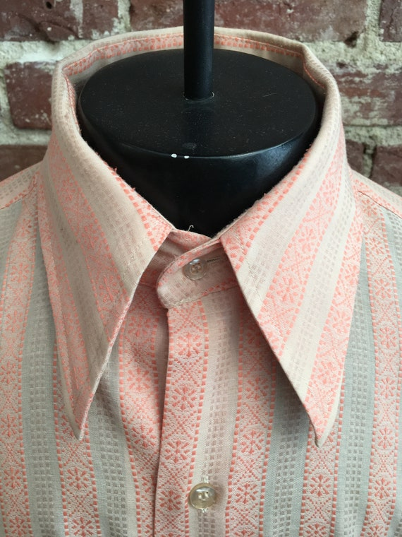 70s Men's Long Sleeve Button Down aka John Cassavetes Shirt