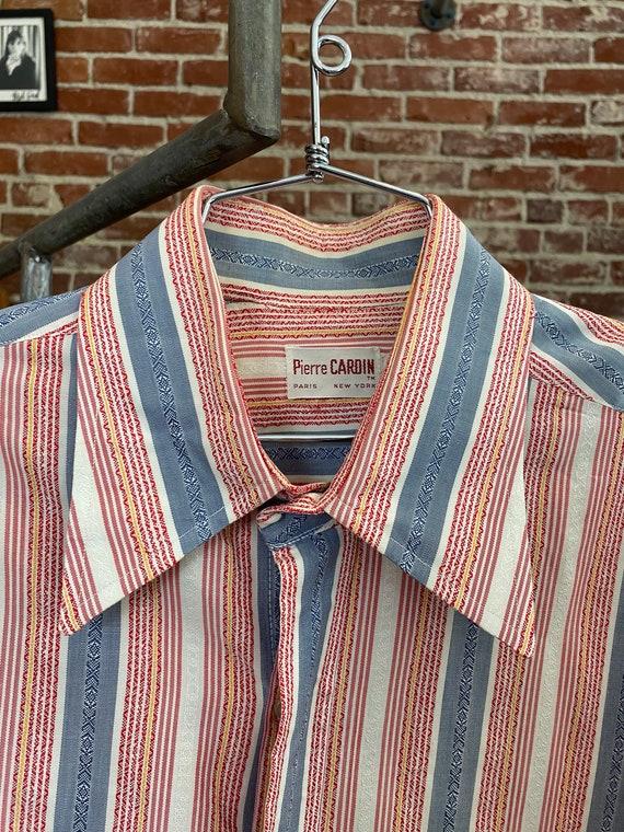 70s Pierre Cardin Cotton Striped Men's Shirt
