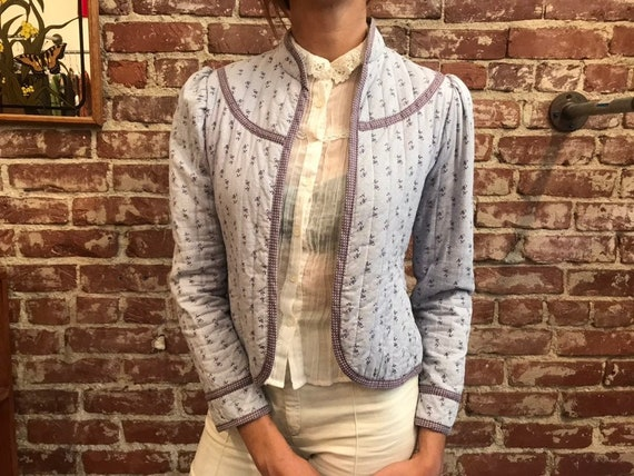 70s Gunne Sax Quilted Cotton Jacket