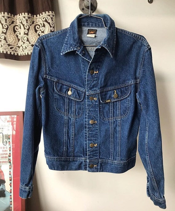 70s Men's Lee Riders Denim Jacket Size Small to Extra Small
