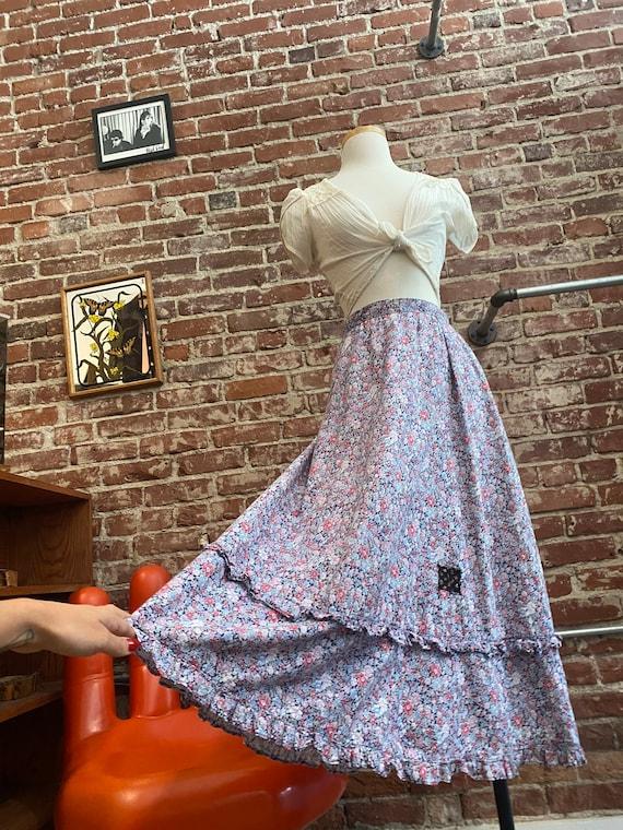 Early 80s Gunne Sax Cotton Prairie Skirt - image 1