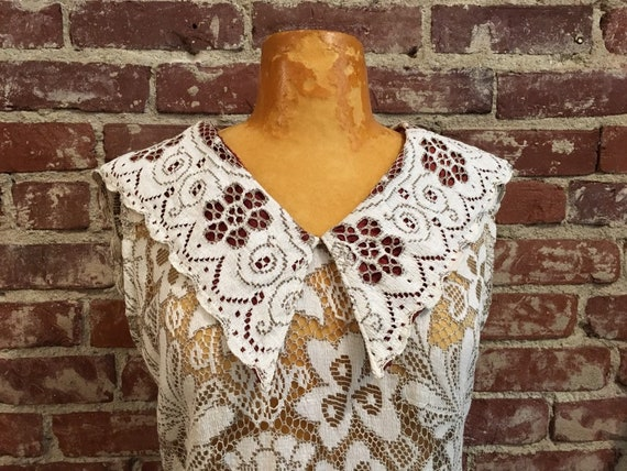 60s Sheer Cotton Lace Dress
