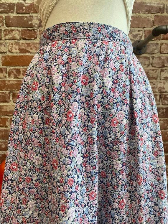 Early 80s Gunne Sax Cotton Prairie Skirt - image 4