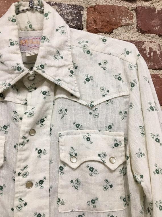 70s Mens Western Size Medium Soft Vintage