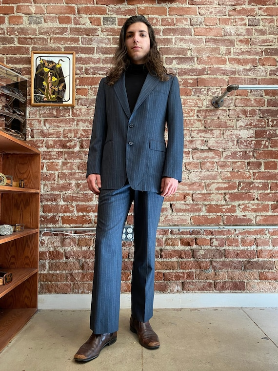 70s Men's Givenchy Men's Pin Striped Suit