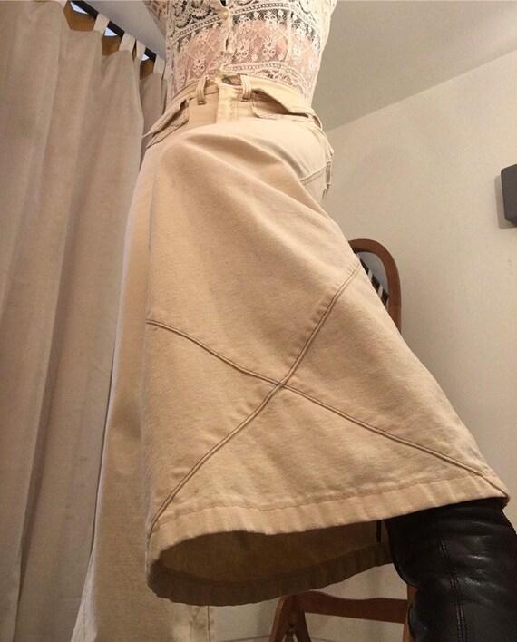 "70s Ivory Washington Rappers Cotton Flares 28"" waist"