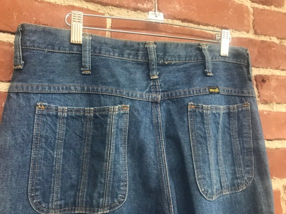 "70s Men's Wrangler Denim Jeans Flares Bell Bottoms 32"" Waist by 32"" inseam Seventies 1970s"
