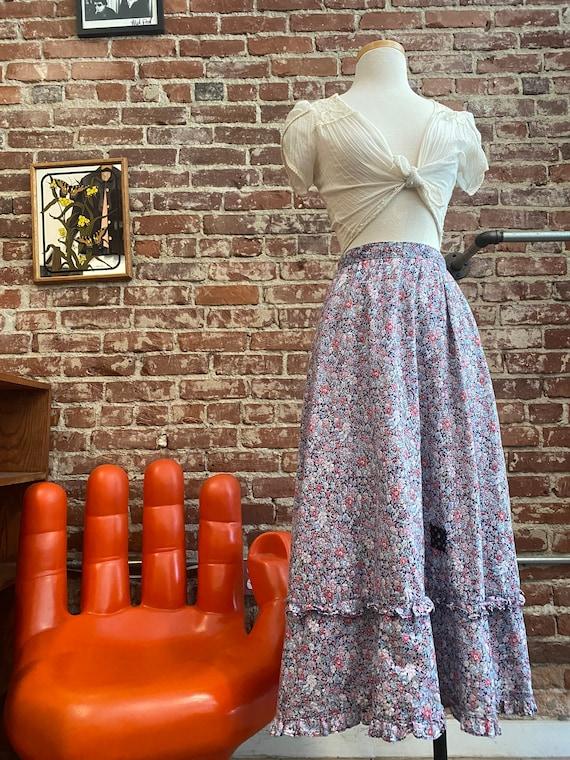 Early 80s Gunne Sax Cotton Prairie Skirt - image 2