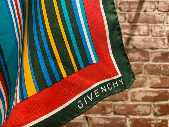 70s Givenchy Hand Rolled Striped Scarf