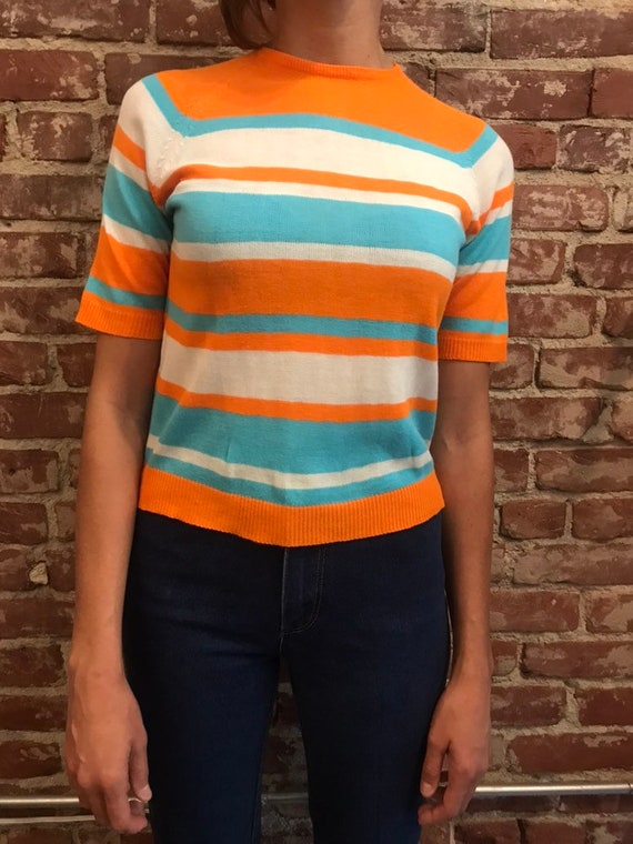 70s Ultra Mod Striped Acrylic Shirt