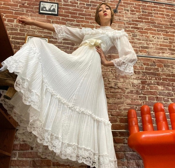 70s Gunne Sax Wedding Gown By Jessica McClintock