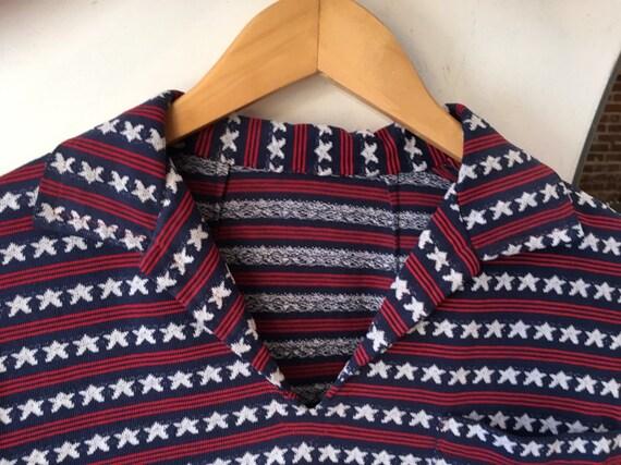 70s Pop Art Woven Cotton Unisex Shirt